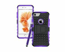 Apple iPhone Heavy Duty ShockProof Tough Builder Hard Back Case Cover With Stand