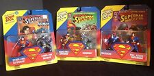 KENNER SUPERMAN MAN OF STEEL 3 ACTION FIGURE 2 PACK SET LOT DOOMSDAY BATMAN S-56