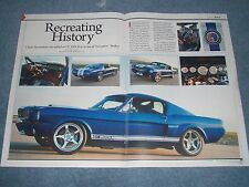 1965 66 Shelby Mustang GT350CR Classic Recreations Info Article Clone