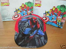 The Amazing Spider-Man Child Kid Adjustable Hat Marvel Comics Brand New - Red