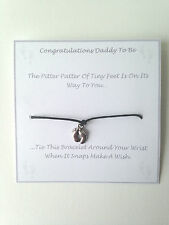 Daddy ad essere desiderio Bracciale Baby Shower favore regalo.