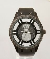 Nautical Hiphop Joe King Ice Rodeo  Real Genuine Diamond Watch Men/Women Black