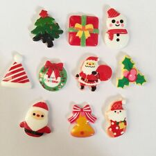 10pcs mix shand painting Resin Christmas series combination Flatback scrapbooks
