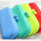 Rubber Silicone Pouch Purse Wallet Glasses Cellphone Cosmetic Card Coin Bag Case