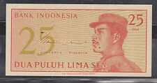 1 Note OLD BANK  INDONESIA (CRISP UNC) 1964 25 Dua Puluh Lima **FREE SHIPPING