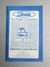 REDUCED PRICE - The Flxible Corp. Flxible Metro Bus Operator's Handbook / Manual
