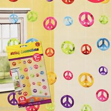 FEELING GROOVY PEACE SIGNS STRINGS 60'S 70'S PARTY HANGING DECORATIONS STRINGERS