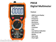 PEAKMETER PM18 Handheld Digital Multimeter AC / DC Voltage Current Capacitance