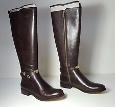 $325 size 10 Michael Kors Arley Brown Leather Tall Riding Boot Womens Shoes