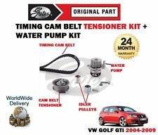 FOR VOLKSWAGEN VW GOLF 2.0 GTi 16v 2004-2009 TIMING CAM BELT KIT & WATER PUMP