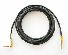 WORLD'S BEST 20 ft guitar cable, right angle, HANDMADE, G&H plugs, superb sound!