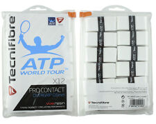 Tecnifibre ATP Pro Contact - Pack of 12 - Tennis Racket Overgrips - White