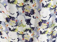 Liberty silk 100%, White Summer Rose Liquid (Per Metre) - Dress fabric/ scarves