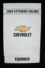 2009 CHEVROLET EQUINOX PAINT COLOR CHIP BROCHURE - ORIGINAL