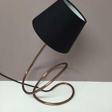 Unusual Retro TWISTED COPPER LAMP WITH BLACK SHADE Vintage Home Decor Light