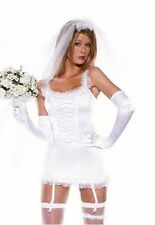 SEXY Donna Sposa di essere Hen DOO Party FANCY DRESS LINGERIE prima notte di nozze