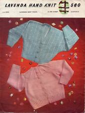 ~ Vintage 1950's Baby Knitting Pattern For Matinee Cardigans ~