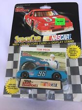 NASCAR TOM PECK 96 CAR 1:64 COLLECTOR CARD AND DISPLAY STAND RACING 095949011514