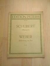 Noten Schubert Militärmarsch und Weber Aufforderung zum Tanz für Klavier