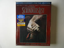 Schindler's List (Blu-ray/DVD, 2013, 3-Disc Set, 20th Anniversary) NEW