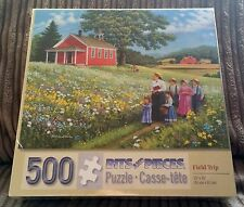 Field Trip 500 Piece Jigsaw Puzzle NEW SEALED John Sloane Flowers/Countryside