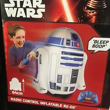 Star Wars R2D2 The Force Awakens Remote Control Inflatable Toy Action Figure