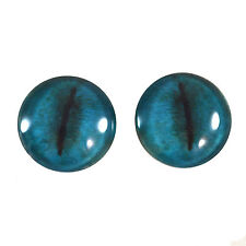 Pair of 30mm Blue Koala Glass Eyes for Jewelry or Taxidermy Doll Making