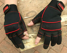 Blackrock Fingerless On Thumb & Forefinger Safety Mechanic Work Gloves (5400400)