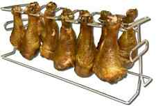 12 Slot Chicken Poultry Turkey Leg Cooker Wing Holder Grill Oven BBQ Rack Smoker