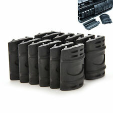 12x Black Quad Picatinny Rail Handguard Hunting Snap on Rubber Covers hot e