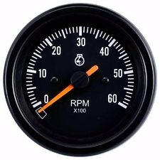 85mm auto gauge 0-6000 rpm Tachometer for marine yacht (Black Face)