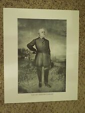 "Vintage Print of Robert E Lee ""At Fredricksburg"" - Size 16"" x 20"""