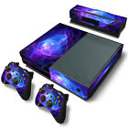 Purple Cover Vinyl Decal Skin Sticker For Xbox ONE Console + 2 Controllers