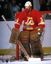 FLAMING Hot MASK! #30 Yves BELANGER Atlanta FLAMES Action DISC'D 8X10 Nice IMAGE