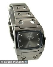 mens big gunmetal steel sports business watch dial designer style clubbing