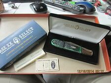 CASE XX SELECT 2001 BERMUDA GREEN GRAND DADDY BARLOW KNIFE --  RARE 6143SS