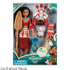 "Disney Store Exclusive Moana Singing Feature Doll Set 11"" Pua Heihei NIB"