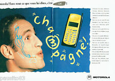 PUBLICITE ADVERTISING 096  1995  Motorola  (2p) téléphone portable  Flare