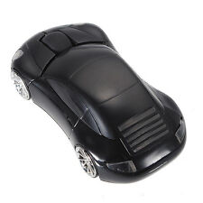Black 3D Wireless Optical 2.4Ghz Shiny Car Mouse 1600DPI USB for PC Laptop