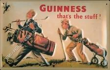 """Guinness Golf - old style vintage advert Metal Sign - 12"""" x 8 IMMEDIATE SHIPMENT"""