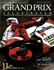 "Grand Prix Illustrated Vol.14 '86 SAN MARINO GP TADAHIKO TAIRA ""Sito"" Pons"