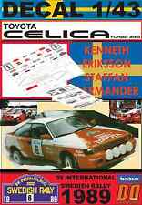 DECAL 1/43 TOYOTA CELICA GT-4 K.ERIKSSON SWEDISH R. 1989 (04)