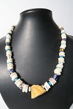 Bonito Collier vieja abalorios caracoles old Venetian trade beads afrozip