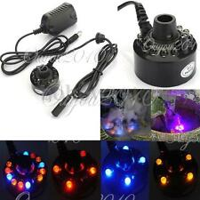 Mist Fog Maker Fogger Mister Atomizer Air Humidifier Water Pond Fountain 12 LED