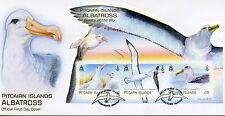 Pitcairn Islands 2014 FDC Albatross Giants Sky 3v M/S Birds Wandering