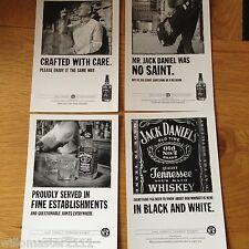 SET OF 4 GENUINE  JACK DANIELS/DANIEL'S WHISKEY ADVERTISING SPIRITS POSTCARDS