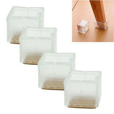 4x Chair Leg Caps Rubber Feet Protector Pads Furniture Table Cover Square Bottom