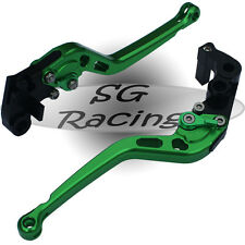 Long Green CNC Alloy Adjustable GP Brake & Clutch Levers BMW S1000RR 2012