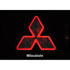 LED Car Tail Logo Red light Auto Badge Light for Mitsubishi Lancer Lioncel