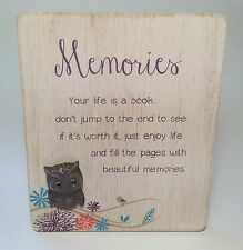 Life's A Hoot Memories Plaque Friendship Gifts Ideas for Her & Friends LT049